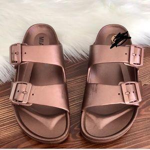 Mia rose gold sandals